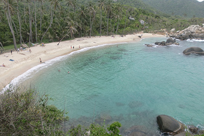 El Cabo Beach in Tayrona National Park